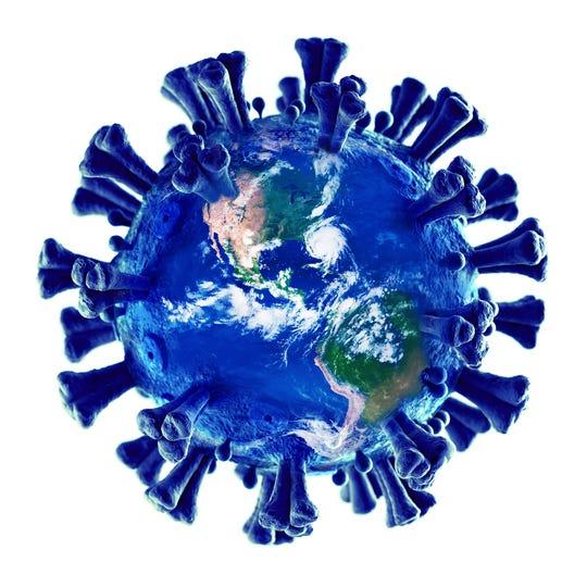 The coronavirus encircles the globe.