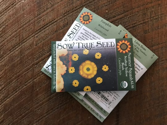 Some packets of seeds from Sow True Seed have artwork on the front. This one is from a Hawaii artist who goes by the name of GROOOVY.