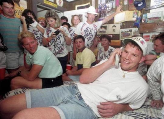 Brett Favre on draft day 1991.