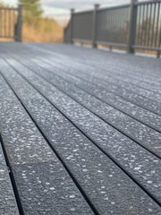 Frost covers a deck in Williston April 20, 2020 - a harbinger of colder temperatures to come later in the week.
