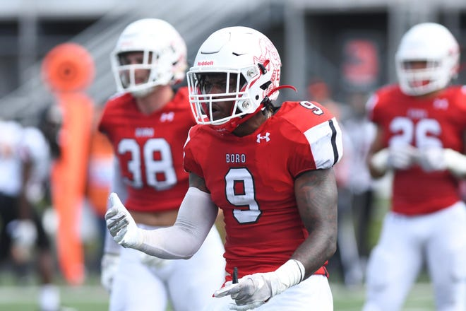 Edinboro strong safety Brandon Anderson, a Holy Cross High School graduate, is looking forward to a shot to play in the National Football League.