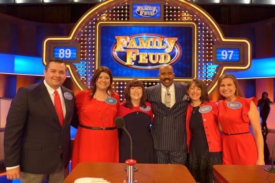 """The Schuster Family from Cincinnati will be on """"Family Feud"""" on Monday, April 27."""