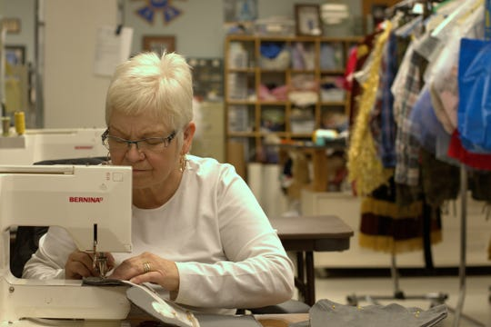 Jackie Andrews is one of several Cincinnati Ballet seamstresses whose work recently turned from costume-making to crafting medical-grade facial masks.