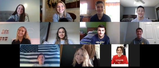 Screen grab of 11 high school students who founded Colonia Cares