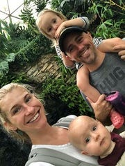 Meredith and Andrew Stahl and their children Evie, 3 and Arlo, 1.