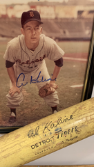 An Al Kaline autographed picture and the bat from Bat Day in the 1960s still hang in Jeff Daniels' home.