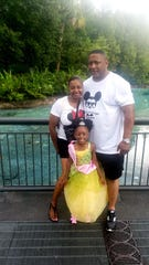 LaVondria and Ebbie Herbert with their daughter Skylar.