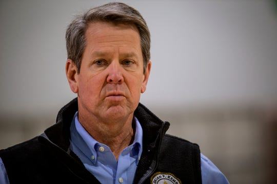 Georgia Gov. Brian Kemp says some businesses can reopen on Friday.