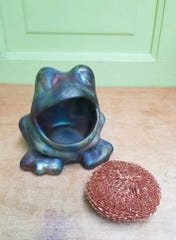 Decorative Raku-Fired Frog