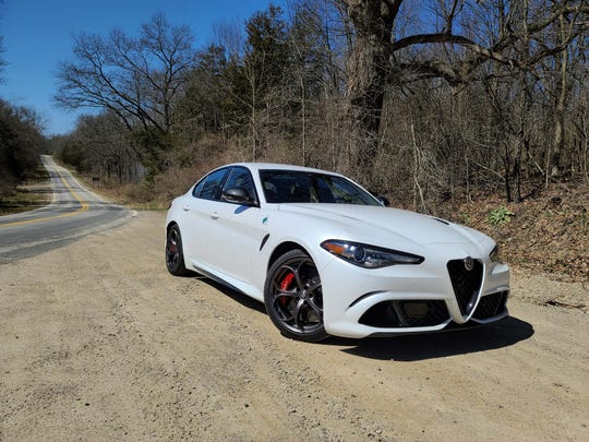 The 2020 Alfa Giulia Quadrifoglio is whip-quick with a tight chassis and one of the sexiest bods in the business.
