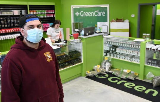 Although there was no party and all marijuana sales had to be made curbside, Green Care manager Steven Dally saw an uptick in sales Monday, the traditional 4/20 day of cannabis culture celebration.