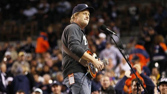 Jeff Daniels performing at the 2012 World Series.
