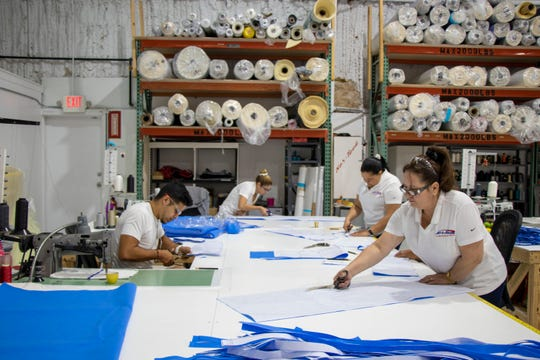 Nor-Tech, a Cape Coral boat manufacturing company, is having its upholstery department make medical masks for area medical personnel.