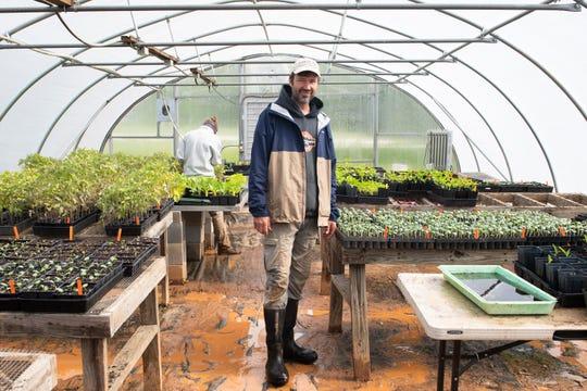 Chris Sermons at Bio-Way Farm in Ware Shoals Monday, April 20, 2020.