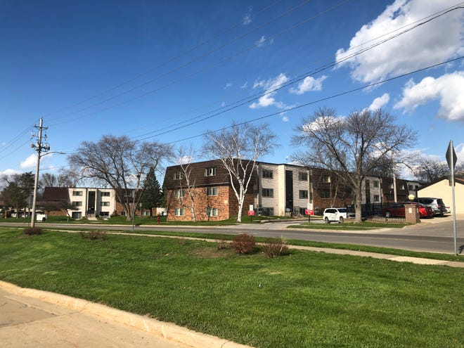 The apartments located at 1960 Broadway Street on April 20, 2020, in Iowa City.