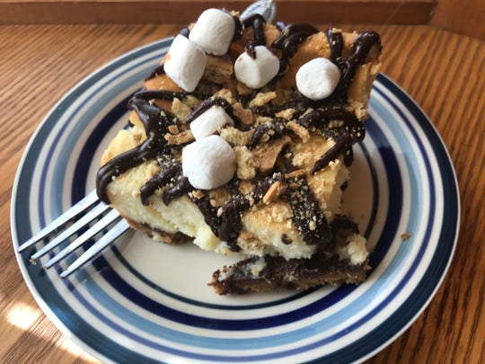 The s'mores cheesecake from Jenn's Java in Manitowoc.