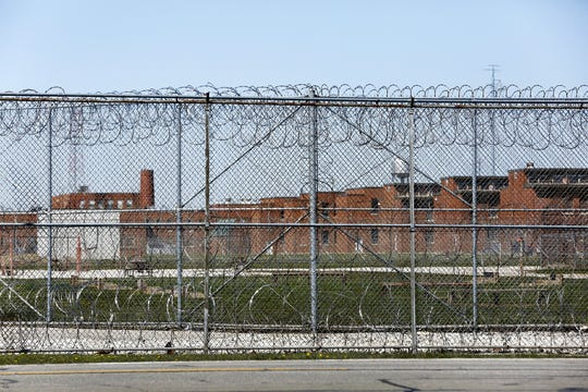 The eastern side of Marion Correctional Institution, 940 Marion-Williamsport Rd E, Marion, photographed from across the street on Monday, April 20, 2020. The institution has become a hotspot for COVID-19.