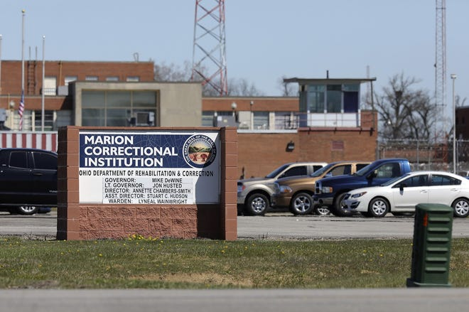 Marion Correctional Institution, 940 Marion-Williamsport Rd E, Marion, photographed from across the street on Monday, April 20, 2020. The institution had become a hotspot for COVID-19.