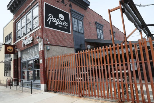 Exterior of Rogue's Gallery. Nate Showers owns Elwood's Liquor & Tap at 1111 North Water Street in Milwaukee and Rogue's Gallery at 134 East Juneau Avenue in Milwaukee.