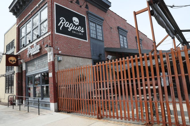 The Rogue's Gallery, 134 E. Juneau Ave. in Milwaukee, is part of the bustling Water Street District.