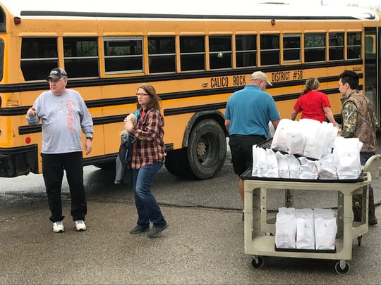 Calico Rock School Distinct staff members have delivered as many as 420 school meals to the districts students in a day during the coronavirus pandemic.