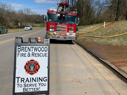 Brentwood Fire & Rescue Training used a home donated by builder Doug Majors for safety training.