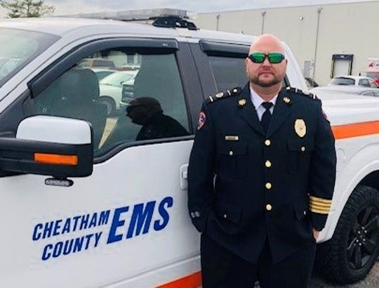 EMS Director BJ Hudspeth was promoted Monday to lead the Cheatham County Ambulance Service.