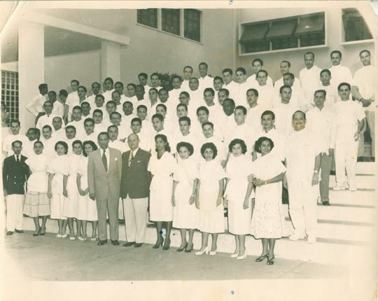 James Wilson, fifth from the right on the third row, was one of the few black Dominican Republicans to graduate from Universidad Autónoma de Santo Domingo in 1957.