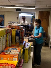 Food is delivered to Packs for Hunger in Carlsbad.