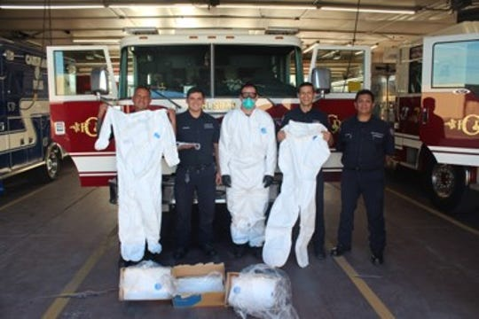 XTO Energy recognizedCarlsbad's first responders contributions to the safety of the community with the donation of$6,100 for personal protective equipment to the Carlsbad Fire Department.