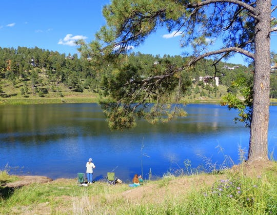 In addition to acting as a reservoir for the Village of Ruidoso, Alto Lake is a popular fishing spot.