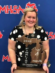 Plymouth cheer coach Sam Koehler has been named the Michigan cheer coach of the year.
