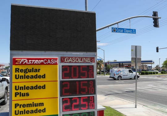 This photo from April 20, 2020 shows a Fastrip gas station at Avenue 52 and Cesar Chavez St. in Coachella. Fuel prices have rebounded since then and local drivers are paying as little as $2.25 per gallon.