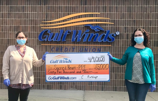 Gulf Winds Credit Union commits $100,000 to combat COVID-19, including $65,000 to Ascension Sacred Heart Hospital.