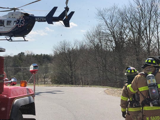 A 60-year-old Connecticut man was airlifted to a hospital on Sunday after he crashed a motorcycle in the Town of Milan as seen on April 19, 2020.