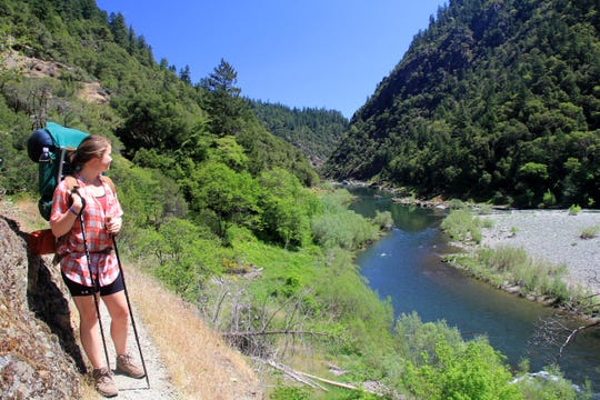 A view of the Rogue River from the Rogue River Trail.