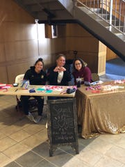 Selling valentine's candygrams is one of the many service projects the FSU Student-Athlete Advisory Council participates in.