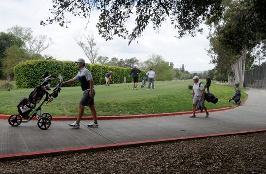 The Los Robles Greens Golf Course in Thousand Oaks is open for business. County golf courses were allowed to reopen with restrictions, which include no motorized carts.