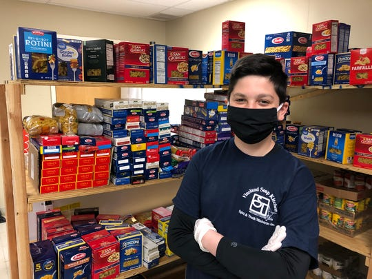 Dominic Mercado of Vineland invited the community to celebrate his 12th birthday by donating pasta and sauce to the Vineland Soup Kitchen. They delivered and helped him restock the non-profit's Landis Avenue pantry.