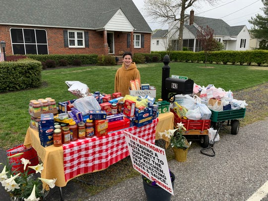 Dominic Mercado of Vineland celebrated his 12th birthday collecting donations for the Vineland Soup Kitchen.