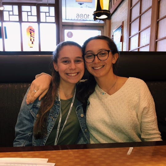 From left: Leah, 18 and Talia, 20 Feilbogen of Scarsdale have started a GoFundMe to help feed those on the front lines.