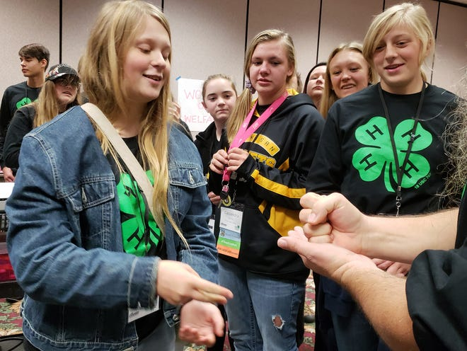 Pictured are Wisconsin 4-Hers at Youth Conference.