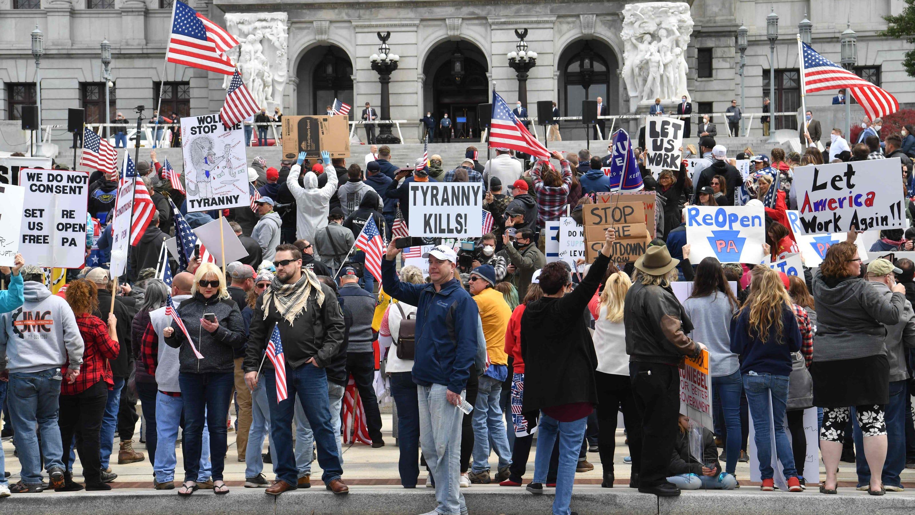 Coronovius: Anti-quarantine protest in Pennsylvania draws about 2,000