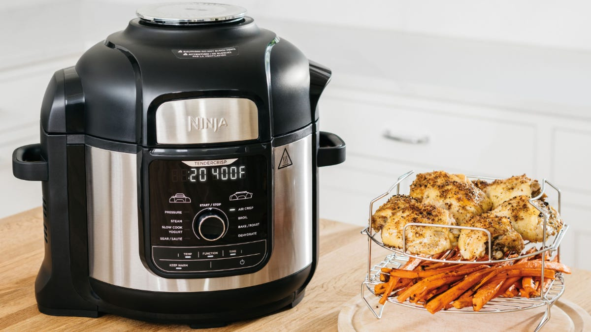 Ninja Foodi Deluxe Get The Popular Air Fryer And Pressure Cooker On Sale