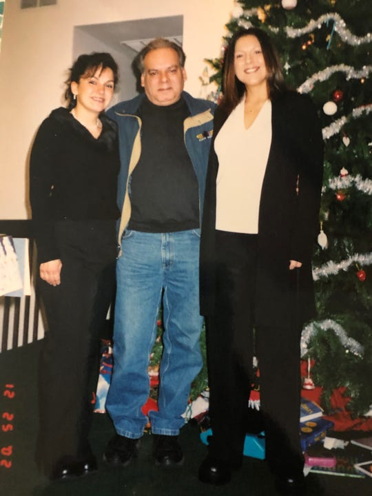 """James """"Cricket"""" Traverso, center, with nieces Denise Traverso (left) and Margaret Traverso (right)."""