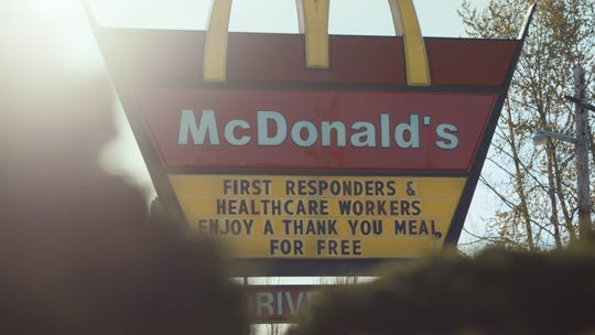 In appreciation for the work of front line workers during the COVID-19 pandemic, 160 McDonald's restaurants in New Jersey will give free meals to health care workers, paramedics, police officers and firefighters, through May 5.