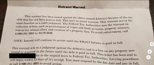 Several residents have received this scam letter.