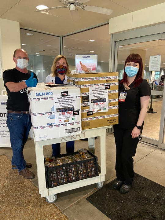 Staff and agents with RE/MAX Aerospace Realty have delivered lunch to five hospitals across Brevard this week.
