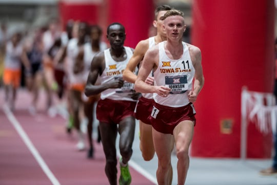 Chad Johnson and the Iowa State Cyclones won a Big 12 Indoor title this season, he was third in the 5000m.