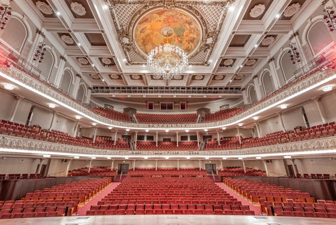 Music Hall, the normal home of the Cincinnati Symphony Orchestra, the May Festival and the Cincinnati Opera, without an audience.